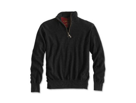 Merino Wool Zipneck Sweater
