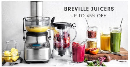 Breville Juicers up to 45% Off from Williams-Sonoma