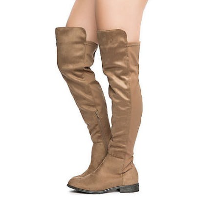 Taupe Women's Oksana-132 Flat Boot