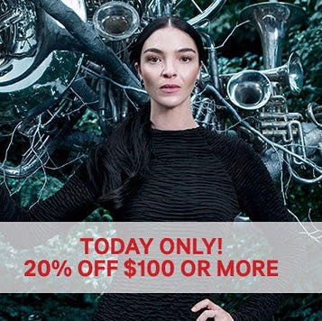 20% Off $100 or More