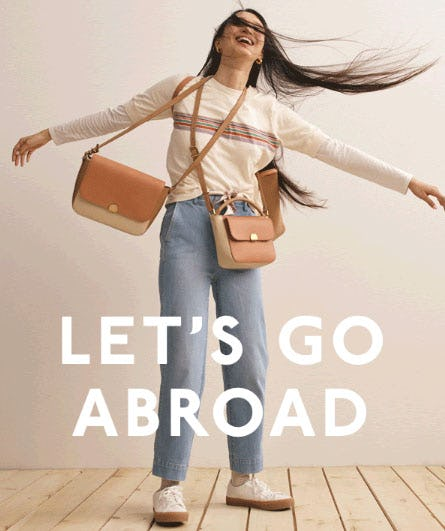 New Abroad Bags Have Just Arrived from Madewell