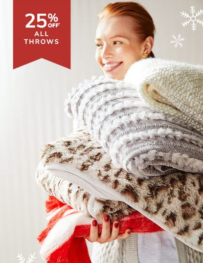 25% Off All Throws from Pier 1 Imports