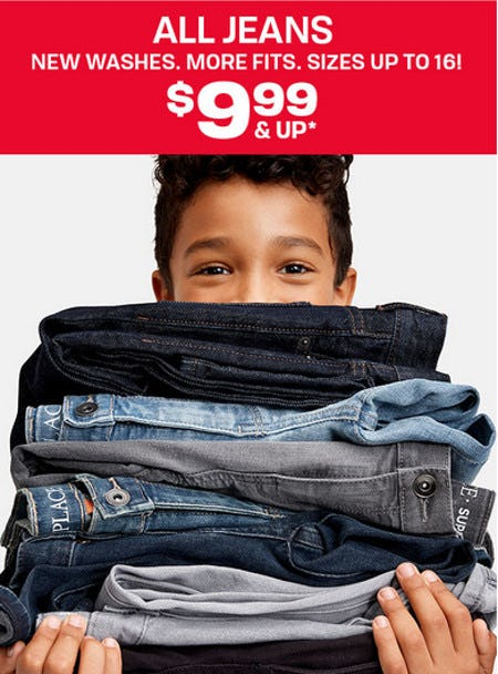 All Jeans $9.99 & Up from The Children's Place
