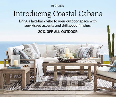20% Off All Outdoor from Pottery Barn
