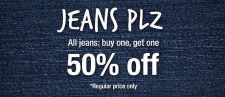 BOGO 50% Off All Jeans