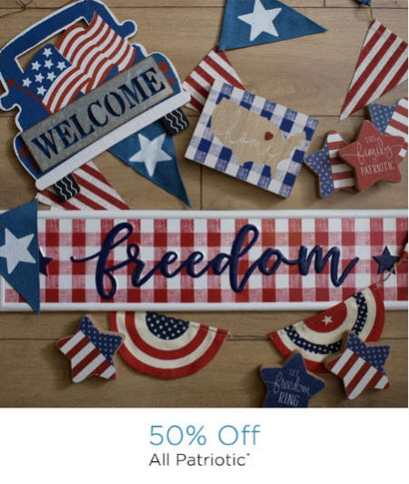 50% Off All Patriotic