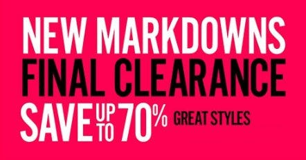 New Clearance Markdowns up to 70% Off from THE WALKING COMPANY
