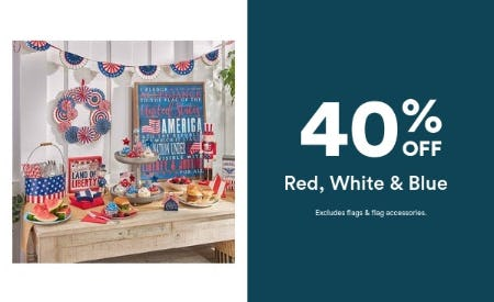 40% Off Red, White & Blue from Michaels