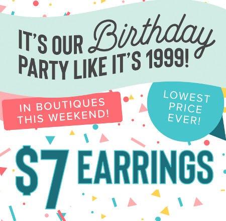 $7 Earrings