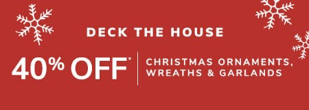 40% Off Christmas Ornaments, Wreaths & Garlands from Pier 1 Imports