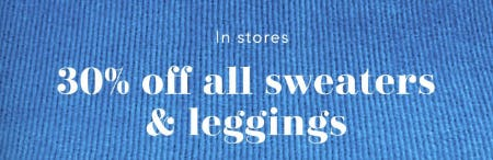 30% Off All Sweaters & Leggings from Aerie