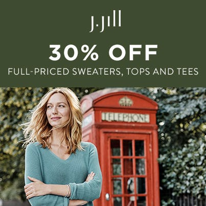 30% off Full-Priced Sweaters, Tops & Tees