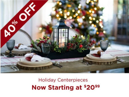 40% Off Holiday Centerpieces from Kirkland's