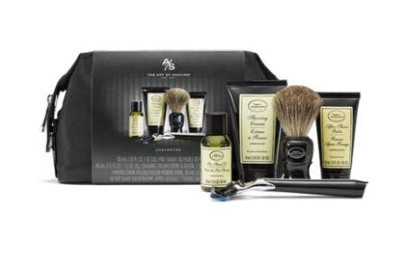 Unscented Travel Shaving Kit With Jet Black Morris Park Razor from The Art of Shaving