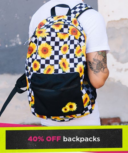 40% Off Backpacks from Spencer's Gifts