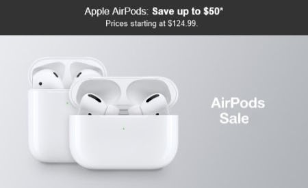 Save Up to $50 Apple AirPods from Target