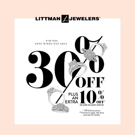Love Ring Out Sale from Littman Jewelers