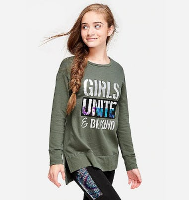 Sweatshirt Tunic from Justice