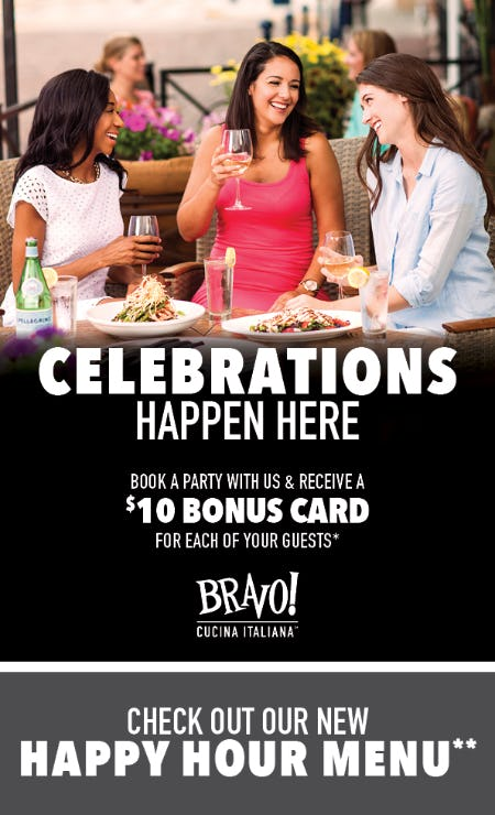 Book Your Banquet Party at BRAVO