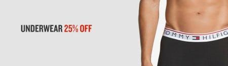 Underwear 25% Off