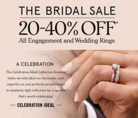 20-40% Off All Engagement and Wedding Rings from Zales The Diamond Store