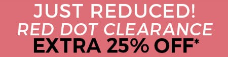 Red Dot Clearance: Extra 25% Off