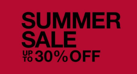 Up to 30% Off Summer Sale