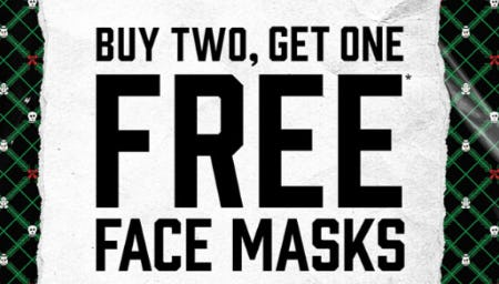 B2G1 Free Face Masks from Hot Topic