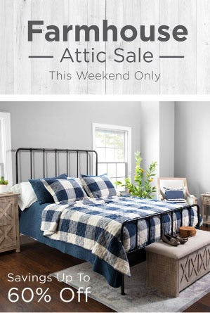 Savings Up To 60% Off Farmhouse Attic Sale from Kirkland's