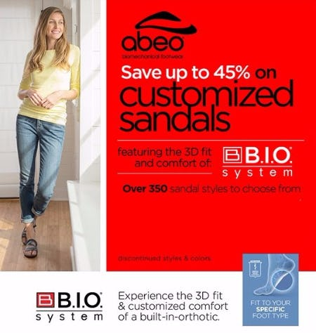 Up to 45% Off ABEO Sandals