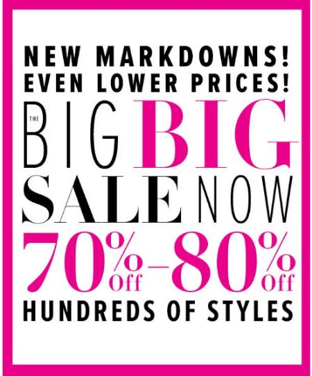 70% Off - 80% Off Hundreds of Styles