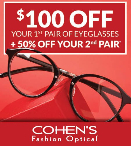 EYEWEAR SALE EVENT from Cohen's Fashion Optical
