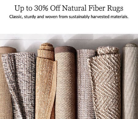 Up to 30% Off Natural Fiber Rugs