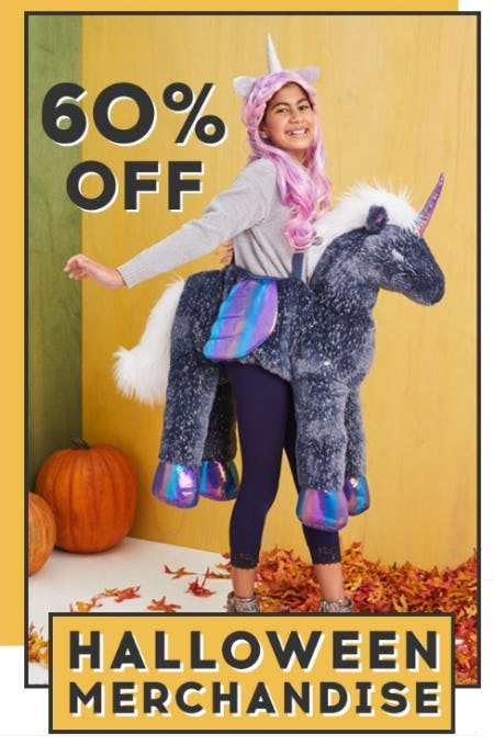 60% Off Halloween Merchandise