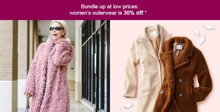 30% Off Women's Outerwear from Target