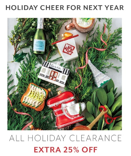 Extra 25% Off All Holiday Clearance from Sur La Table