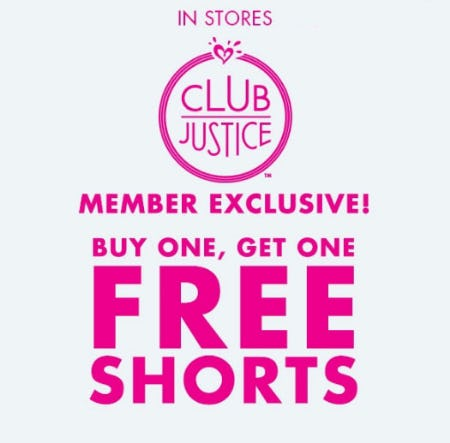 BOGO Free Shorts from Justice
