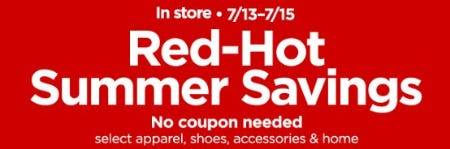 Red-Hot Summer Savings from JCPenney