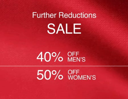 Further Reductions Sale from Boss