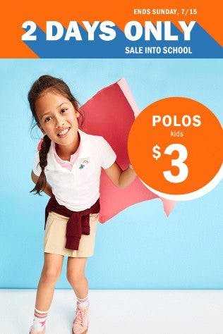 $3 Kids Polos from Old Navy