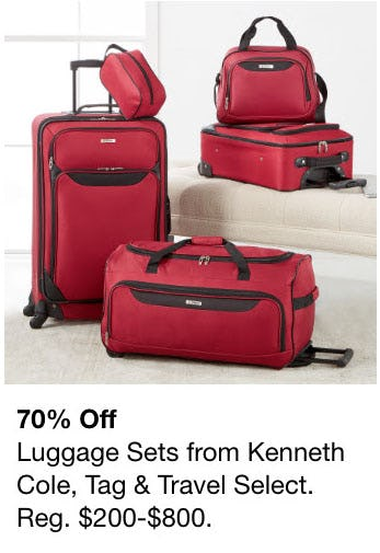 70% Off Luggage Sets from macy's