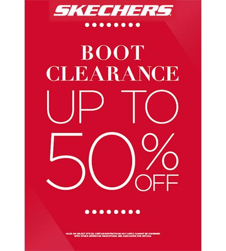 BOOT CLEARANCE SALE! from Skechers