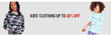 Kids' Clothing Up to 40% Off