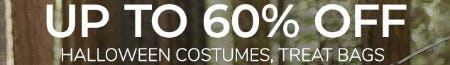 Up to 60% Off Halloween Costumes, Treat Bags & More
