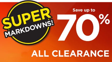 Save Up to 70% on Clearance Super Markdowns from Kohl's