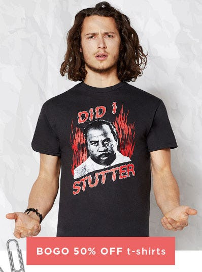 BOGO 50 Off T Shirts From Spencers Gifts