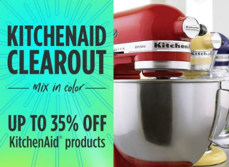 Up to 35% Off KitchenAid Clearout from Sears