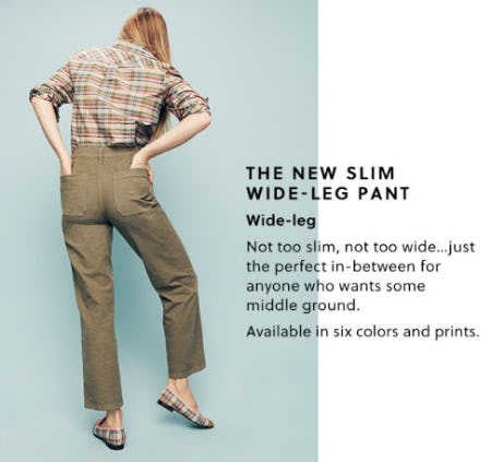 The New Slim Wide-Leg Pant from J.Crew