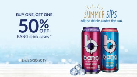 BOGO 50% Off Bang Drink Cases from The Vitamin Shoppe