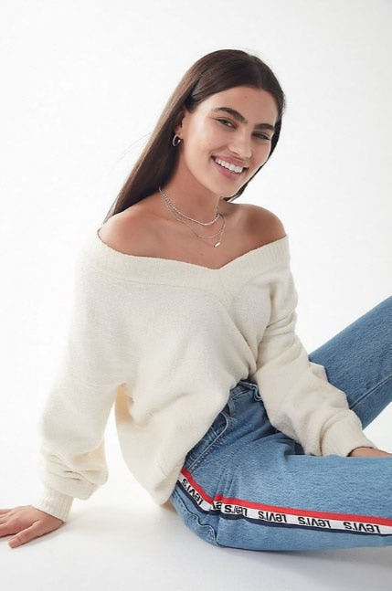 UO Vida V-Neck Sweater from Urban Outfitters
